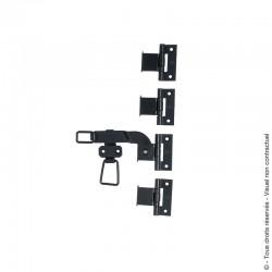 Accessoires pour espagnolette plate en acier